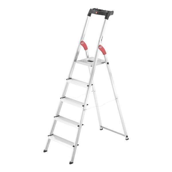 Alu-Stehleiter »L60 StandardLine« 5 Stufen | Baumarkt > Leitern und Treppen > Stehleiter | Hailo