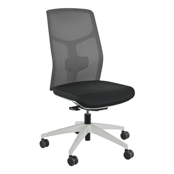 Bürostuhl »Eserio« ohne Armlehnen mit Netzrücken Gestell grau