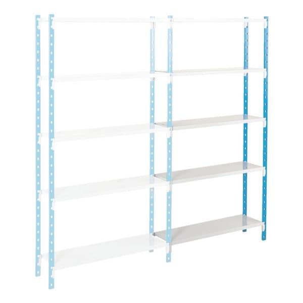 Steckregalsystem »Flip« Anbauregal 4 Stahlblechböden 100 x 30 cm | Büro > Büroregale > Regalsysteme | MANORGA