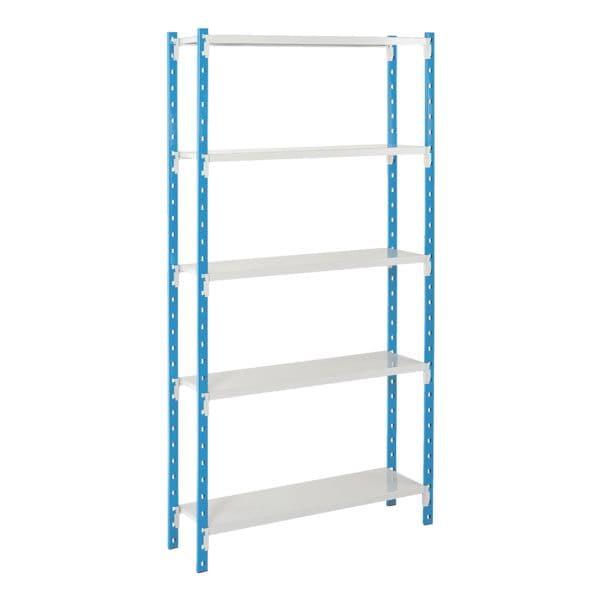 Steckregalsystem »Flip« Grundregal 4 Stahlblechböden 100 x 50 cm | Büro > Büroregale > Regalsysteme | MANORGA