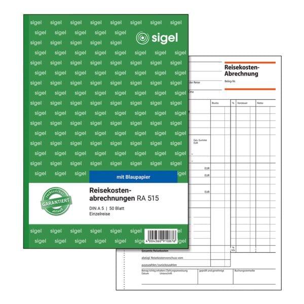 Formularbuch »Reisekostenabrechnung« RA515
