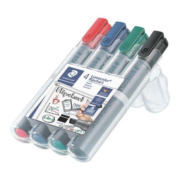 4er-Pack Flipchart Marker »Lumocolor 356 B« | Büro > Tafeln und Boards > Flipcharts | Staedtler