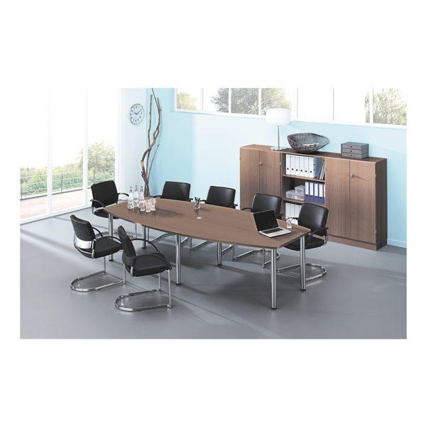 Konferenztisch »Chicago« bis 10 Personen in Tonnenform mit Tischbeinen | Büro > Bürotische > Konferenztische | Abs - Metall | HAMMERBACHER