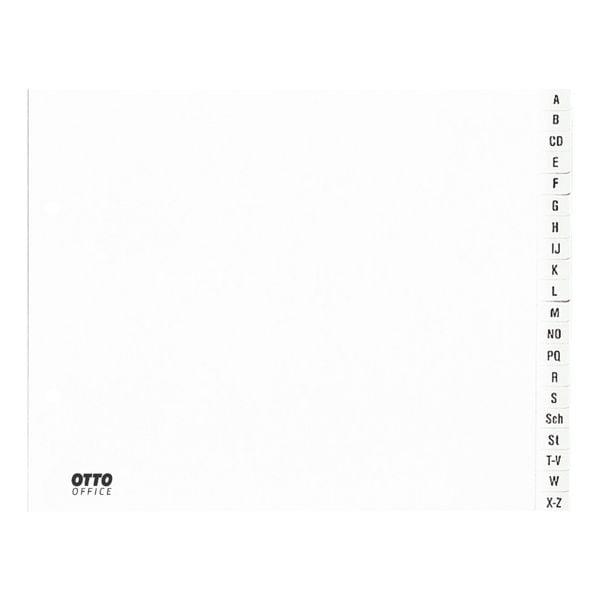 Kunststoffregister A-Z halb A4 weiß