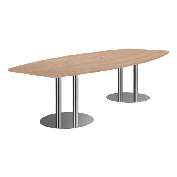 Konferenztisch »Meeting« Tonnenform 280 cm | Büro > Bürotische > Konferenztische | Abs - Stahl | HAMMERBACHER